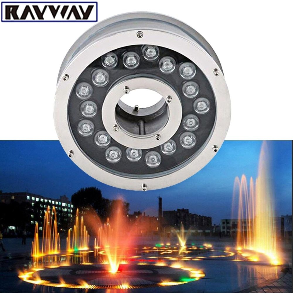 2pcs 6W 12W 18W Aluminum LED fountain Lamp IP68 White RGB Underwater Swimming Pool light AC/DC 12V-24V Pond Decorative Lighting