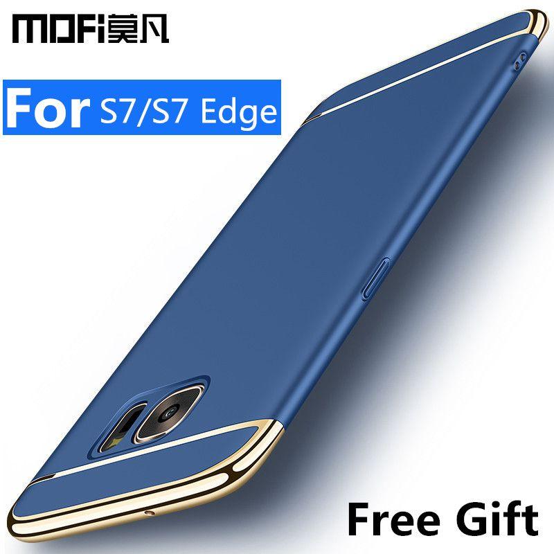 Pour Samsung s7 cas Samsung galaxy s7 bord housse dur retour de protection téléphone capas commune MOFi d'origine galaxy s7 bord cas