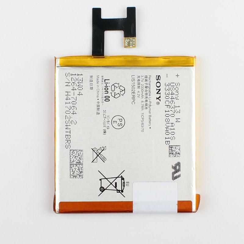 100% D'origine Batterie De Remplacement LIS1502ERPC Pour Sony Xperia Z L36h L36i c6602 SO-02E C6603 S39H Téléphone Batterie 2330 mAh