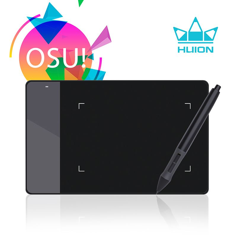 HUION 420 Digital Graphics Drawing Tablet OSU Game Tablet Pen <font><b>Pressure</b></font> Signature Pad with Ten Pen Nibs Black and White