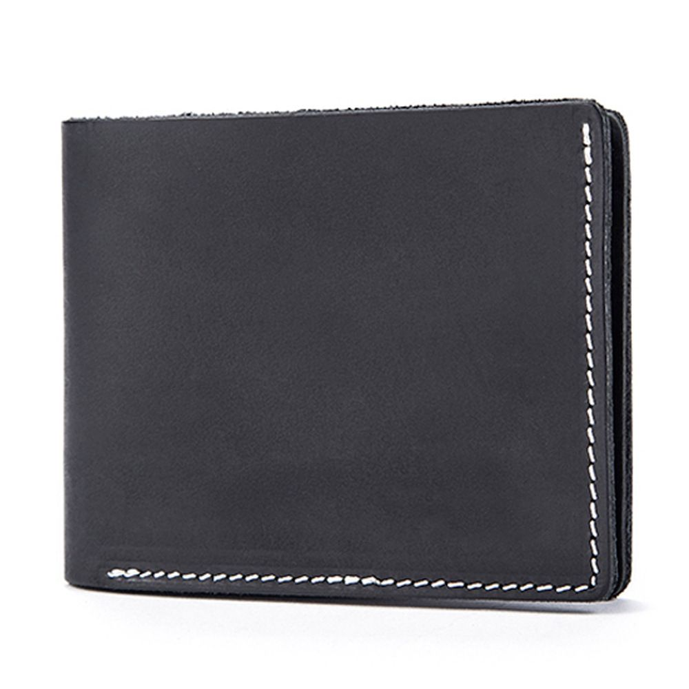 La MaxZa Genuine Leather Men Wallets Short Design ID Card Holder Waterproof Black Male Wallet Casual Top Quality Men Purse