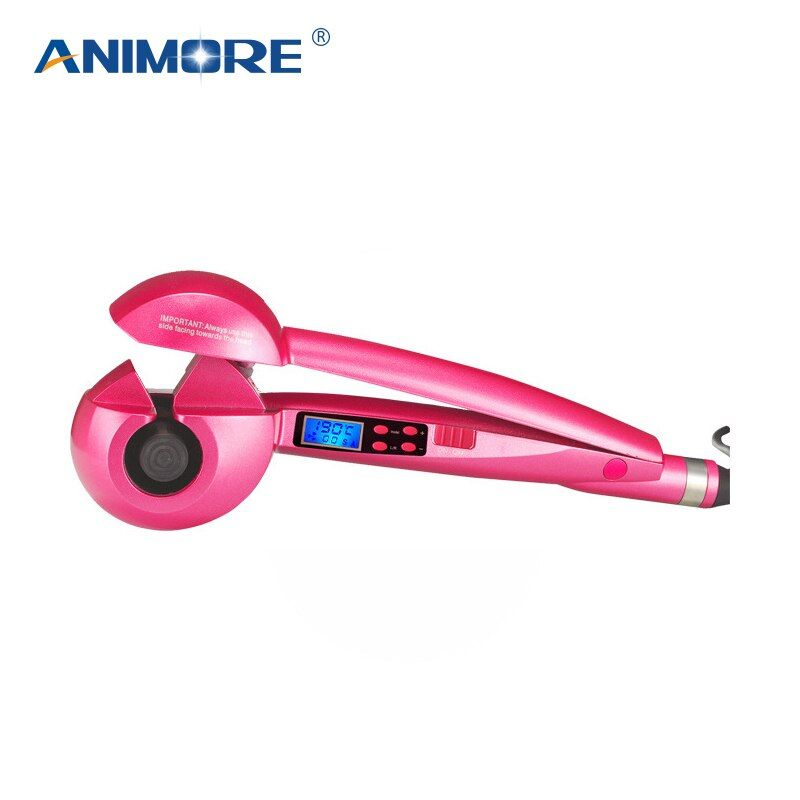 ANIMORE LCD Screen Automatic Curling Iron Heating Hair Care Styling Tools Ceramic Wave Hair Curl Magic Hair Curler CI-01