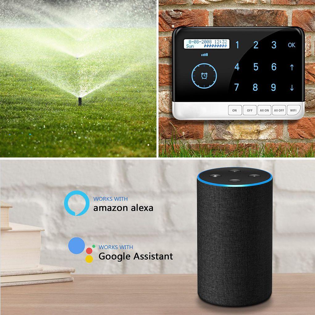 US Plug Smart Sprinkler Controller 9 Zone Wifi Irrigation Timer System Controller For Alexa Google Voice Control Smart Home