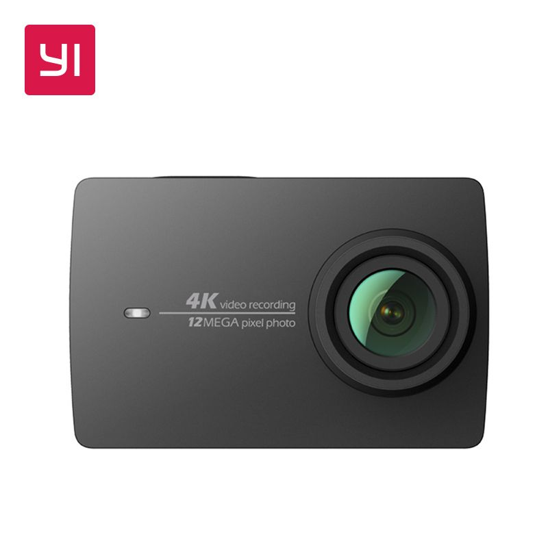 YI 4K Action Camera Black <font><b>2.19</b></font>LCD Screen 155 Degree EIS Wifi International Edition Ambarella A9SE75 12MP CMOS 5GHz Wi-Fi
