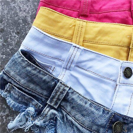 6 Mini Shorts Kwastje Metalen Zomer Vrouwen Mode Jeans Sexy Shorts Casual Denim Zomer 58462 0613 xi