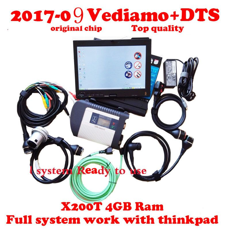 Volle chip MB-Stern C4 SD Schließen V2018.03 wifi Mb-Stern diagnose Vediamo & DTS Volle System mb star Multiplexer mit Thinkpad X200T