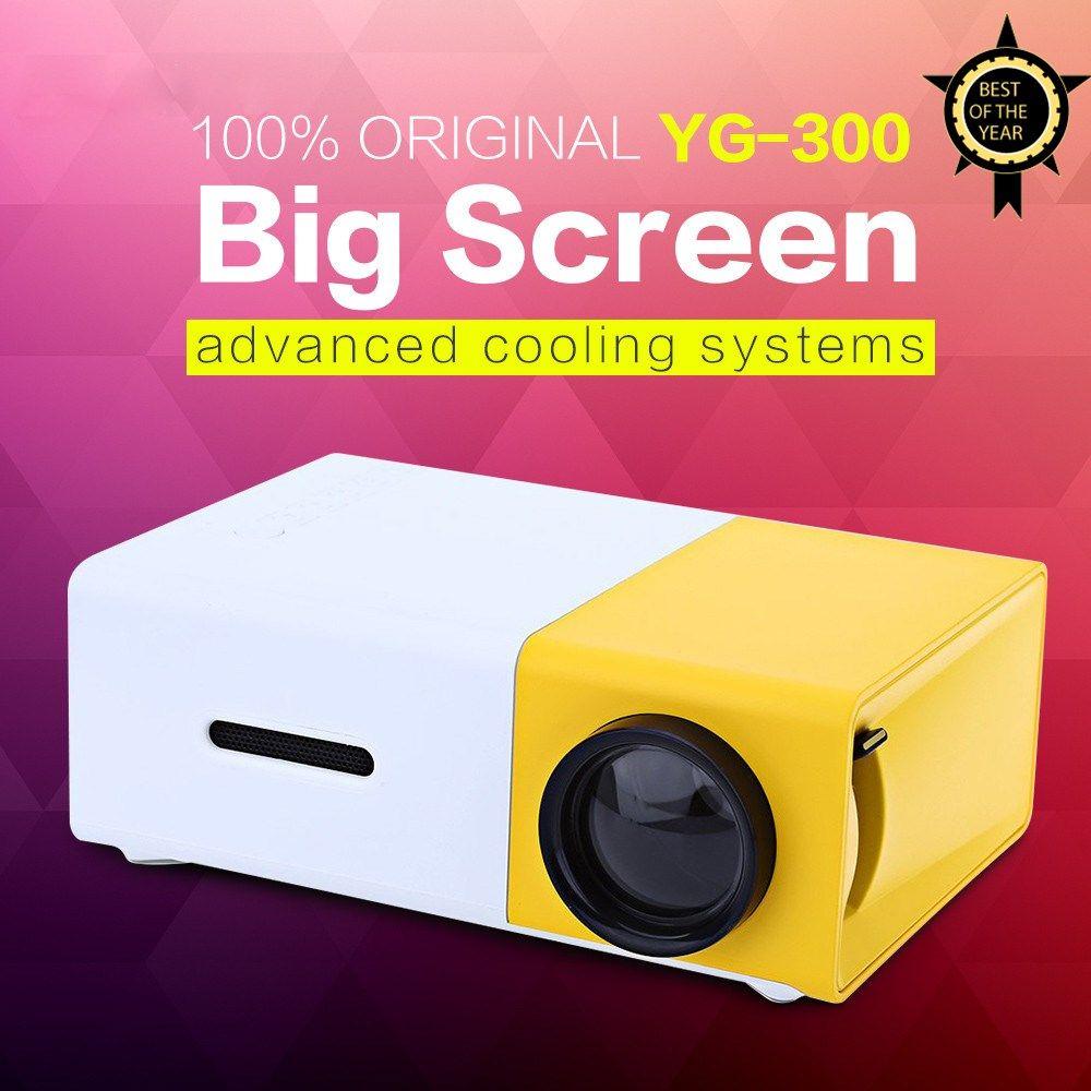 Падение доставка yg300 yg310 LED Портативный проектор 400-600lm аудио 320x240 Пиксели yg-300 HDMI USB мини-проектор для домашнего медиа плеер