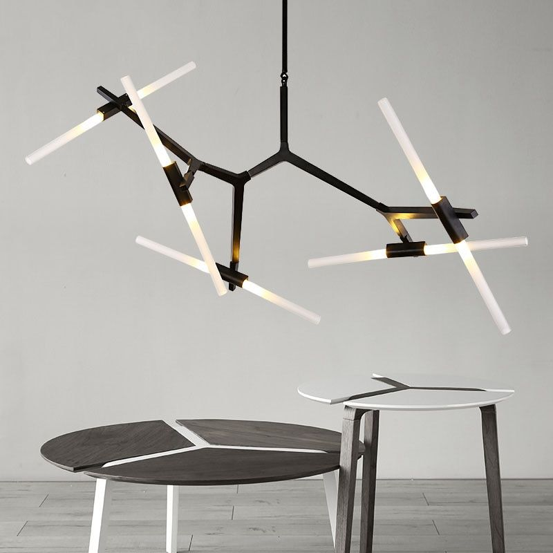 Pendant Light Indoor Living Room Decoration Light Fixtures Dining-room Pendant Lamp Like Branch Black / Gold With G9 LED Bulbs