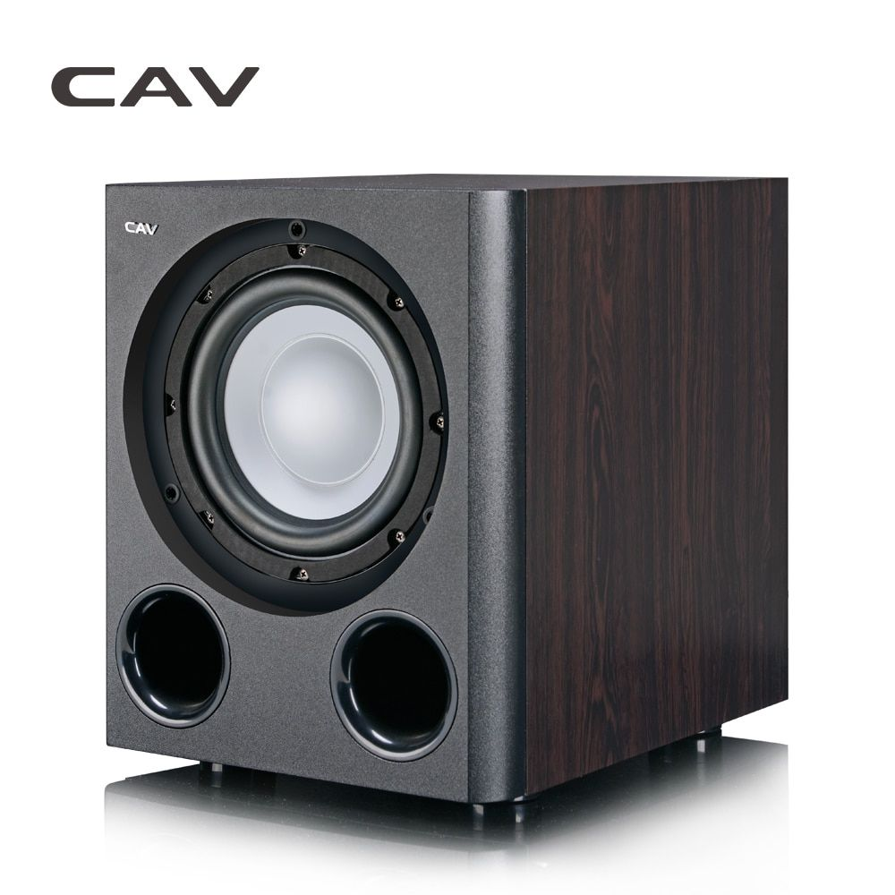 CAV Q3BN Subwoofer Home Theater 5.1 Lighter Type 8-Inch Powered Subwoofers Wood Bass Home Theater Stereo Sound Deep Bass Speaker