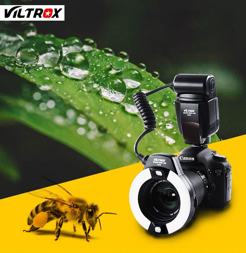 Viltrox JY-670 universel LCD Macro gros plan anneau lumière Flash pour Canon Nikon Pentax Olympus DSLR
