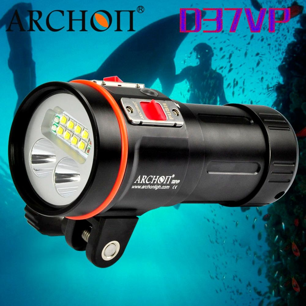 Free Shipping ARCHON W42VR D36VR Upgraded version D37VP W43VP 5200lm Underwater Video Light Diving Flashlight Torch
