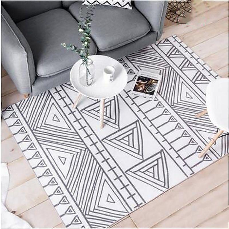 Nordic Simple Fashion Design Soft Large Carpets For Living Room Bedroom Rugs Home Carpet Chenille Velvet Floor Area Rug Door Mat