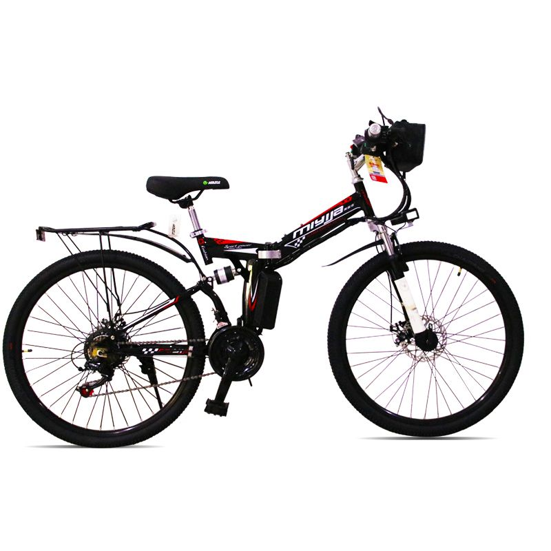 Freies verschiffen zu RU elektro mountainbike klapprahmen ebike 48 V lithium-batterie USB lade 21 geschwindigkeit Elektronische bike