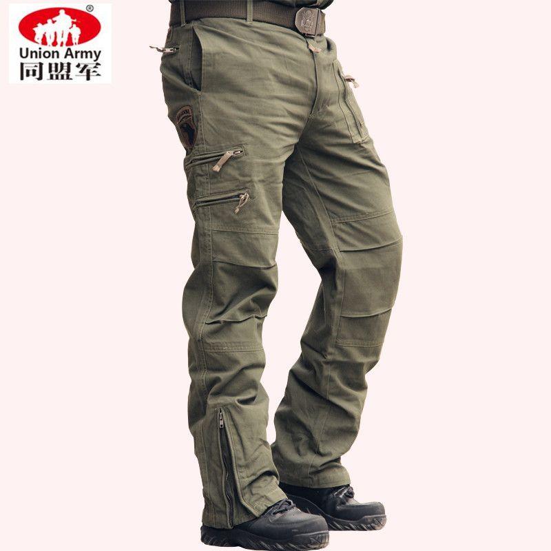 Bragas tácticas 101 Aerotransportada Pantalones Vaqueros Ocasionales Más El Tamaño de Algodón Transpirable Bolsillo de Múltiples Ejército Militar Camuflaje Pantalones de Carga Para Los Hombres