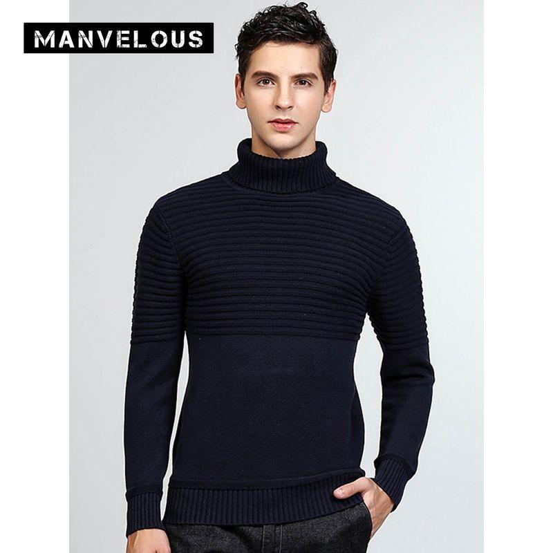Manvelous Пуловеры для женщин свитер Для мужчин Повседневное мода длинный рукав обычный тонкий пуловер из 100% хлопка черного и синего цвета Для м...