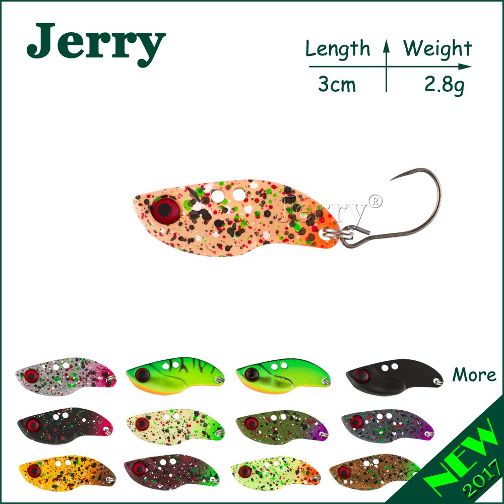 Jerry 1 stück 2,8g angeln klinge VIBEs lippenlosen crankbait ultraleicht micro lockt Japan trout lockt festkörper köder metall VIB locken