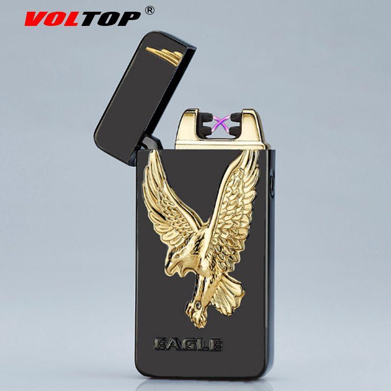 Voltop рельеф тотемы электрической дуги импульса легче ветрозащитный тиснением покрытие Авто-прикуриватели USB зарядка для Интимные аксессуар...