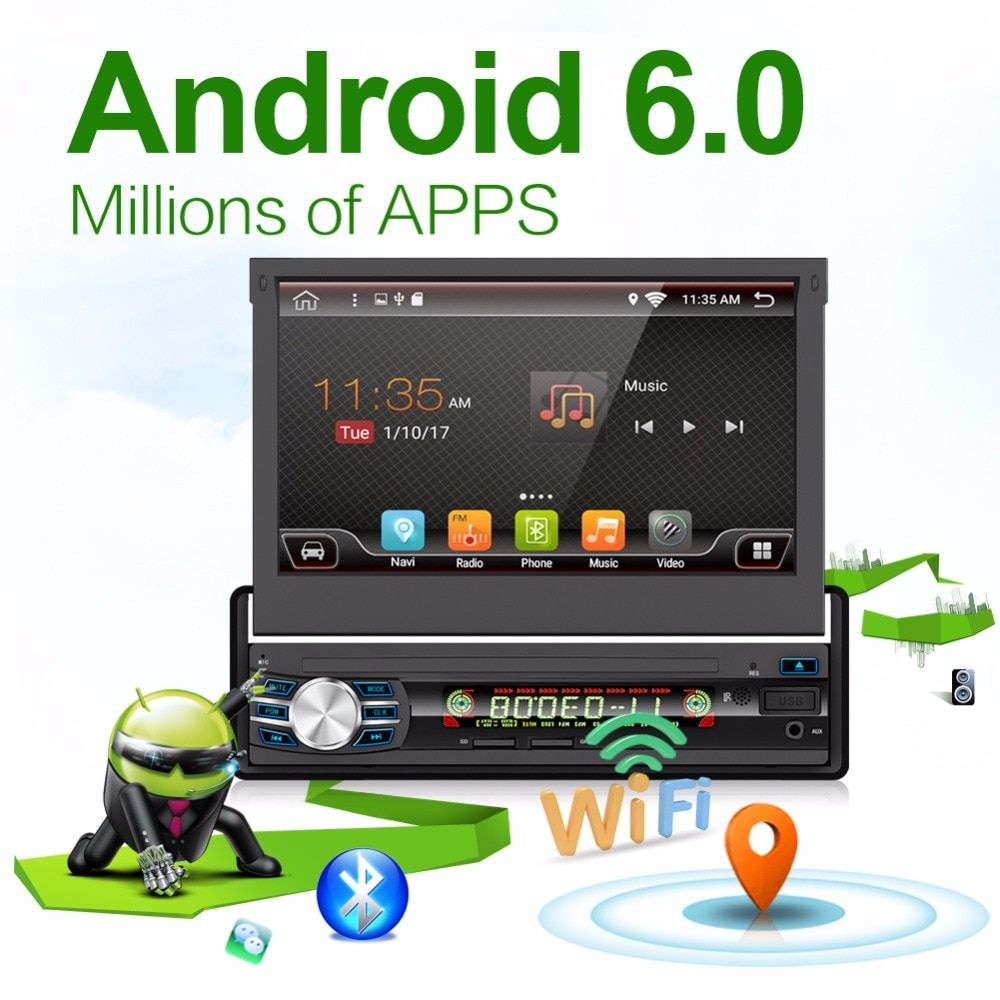 2G 32G Android 6.0 Universal Single 1 DIN 7