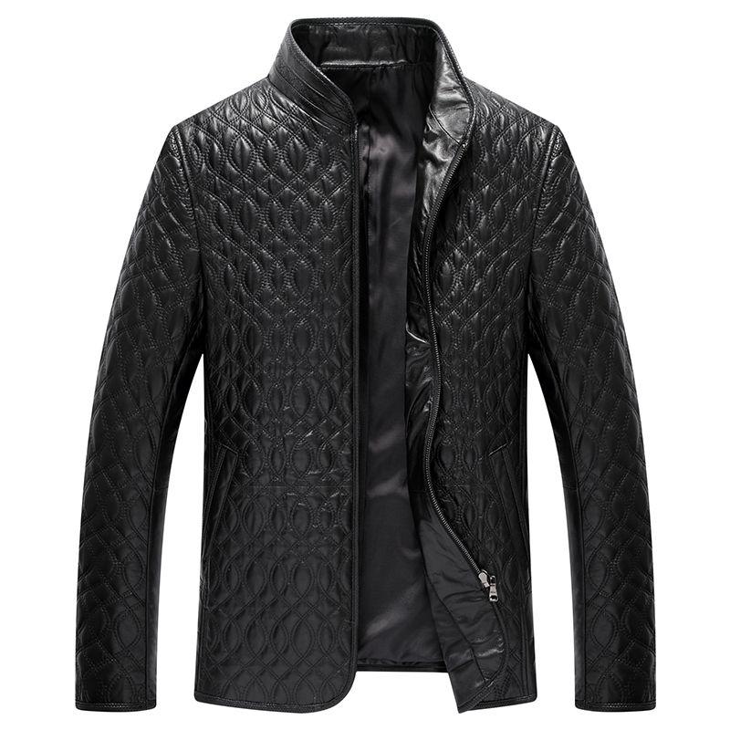 Новинка 2017 мужская кожаная куртка воротник утолщенной из овечьей кожи Хлопчатобумажная Куртка 8805P480