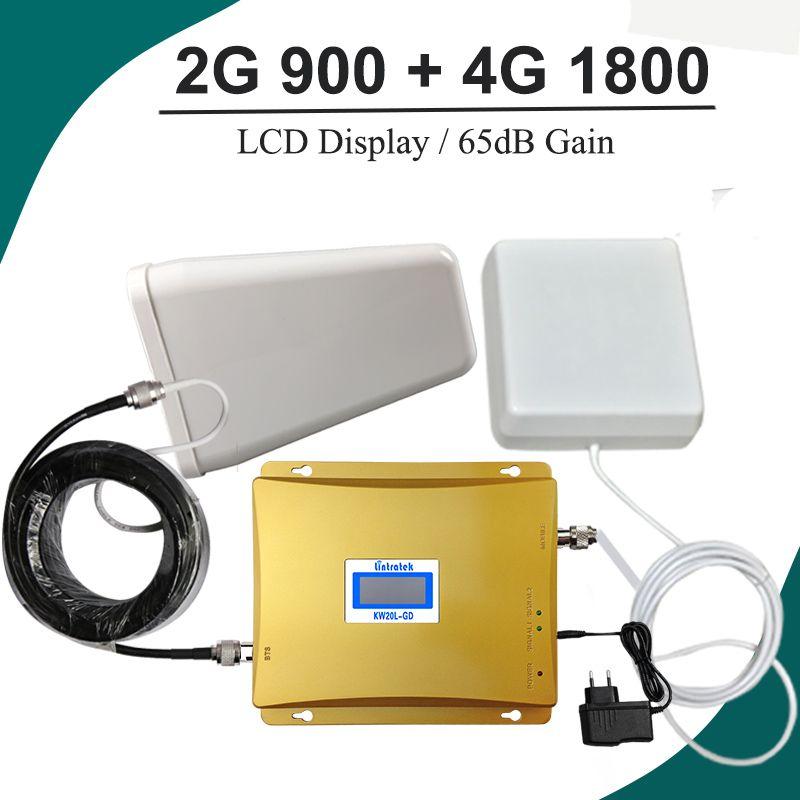 ЖК-дисплей Дисплей GSM 900 4 г LTE 1800 ретранслятор GSM 900 1800 мГц мобильный телефон усилитель сигнала 65dB Dual Band усилитель repetidor Celular