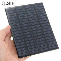 Alta calidad DIY 18 v 1.5 W silicio policristalino almacenado energía solar panel Module System cargador de células solares 11x14x0.2 cm