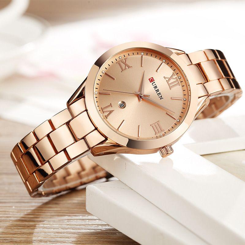 CURREN Gold Watch Women Watches Ladies Creative Steel Women's Bracelet Watches Female Clock Relogio Feminino <font><b>Montre</b></font> Femme