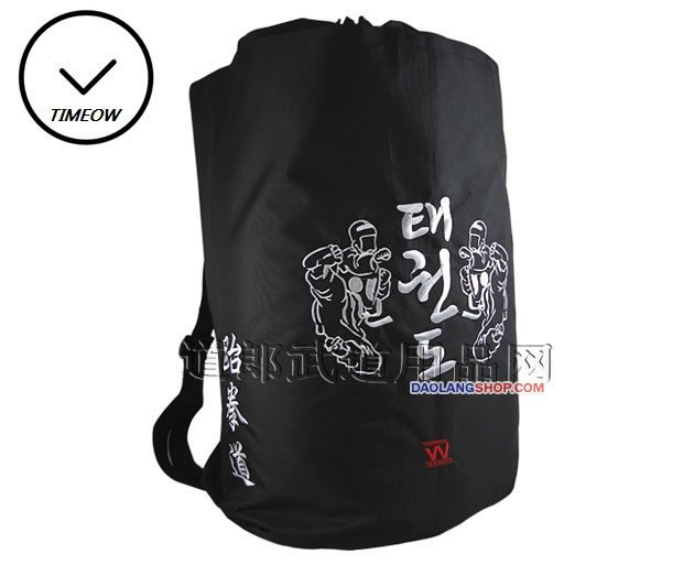 TIMEOW Taekwondo Bag Waterproof Baccarrying Personal Equipment used in Daily Training Pack Professional style