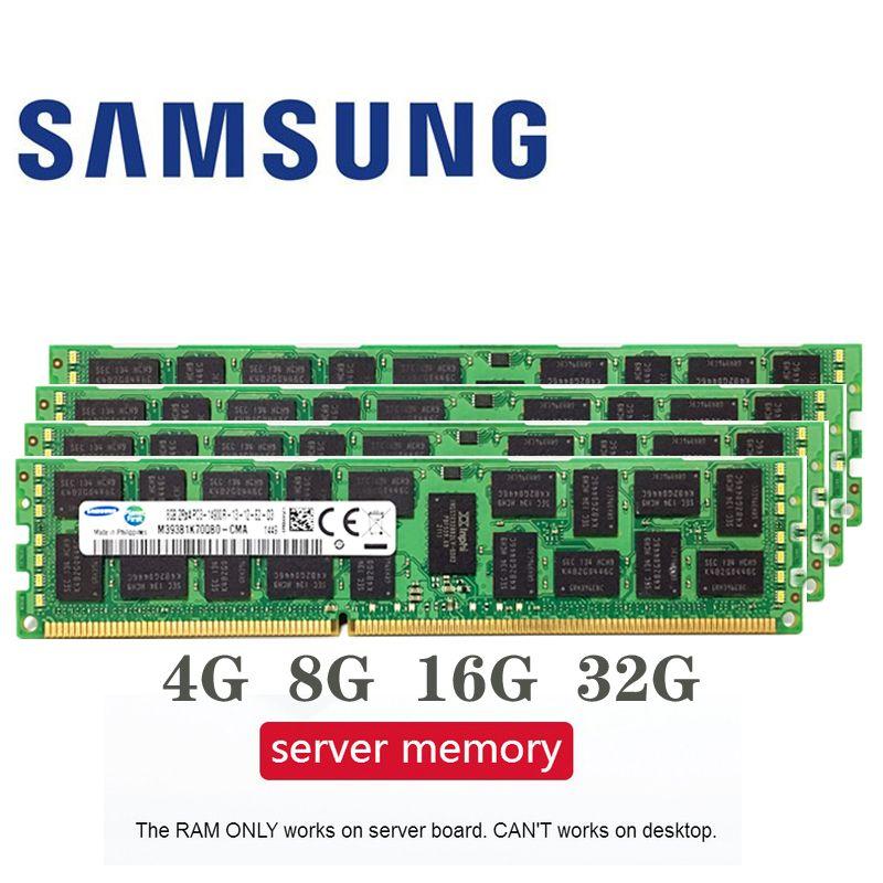 Samsung 4 GB 8 GB 16 GB 4G 8G 16G DDR3 2RX4 PC3-10600R 12800R 14900R ECC REG 1600 Mhz 1866 Mhz 1333 Mhz PC RAM serveur mémoire RAM 1600