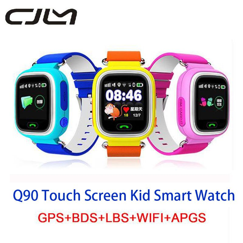 Q90 Smartwatch GPS Smart Watch For Children Baby Waterproof Position Wifi Location Finder Kid <font><b>Anti</b></font> Lost Monitor Smart Watches