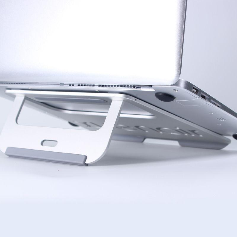 Heat Dissipation Luxury Aluminum Dock Laptop Vertical Desktop Radiating Holder Stand Heat Dissipation for Macbook Air/Pro