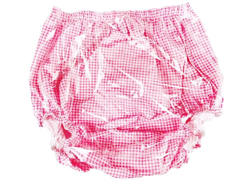 Haian недержания тянуть-на пвх и хлопка Брюки для девочек # mp01-2