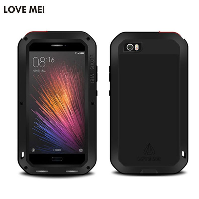 Xiaomi Mi6 Case LOVE MEI Armor With Gorilla Glass Screen Aluminum Metal Full Body Protective Phone Case For Xiaomi Mi5 Mi6