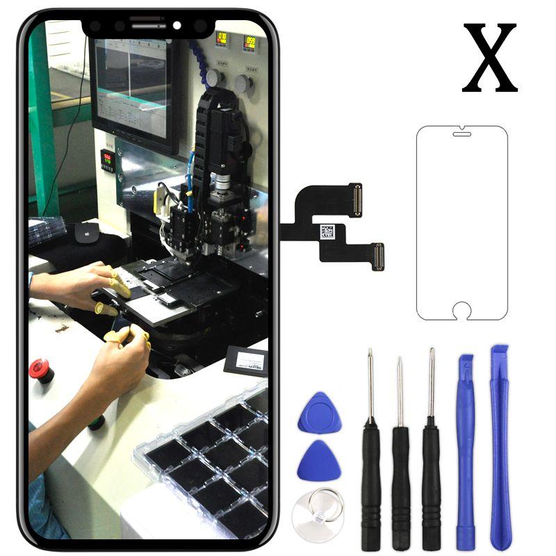 Für iPhone X XS LCD Touch Bildschirm Keine Tote Pixel AMOLED OEM Panel Montage Telefon Ersatz Teil Für iPhone XS max XR LCD Display