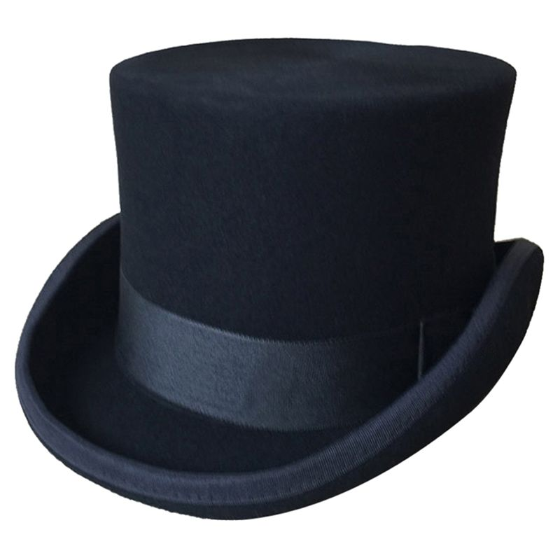Halloween Cosplay Magician Magic Caps Steampunk Wool Top Hats For Women Men British Fedora Masquerade Party Packaging With Box
