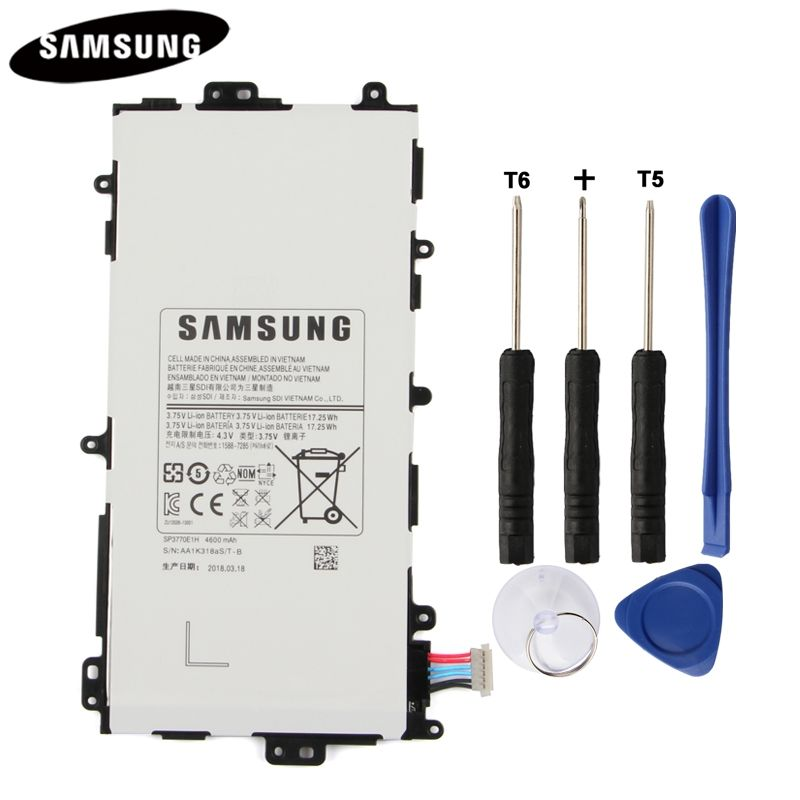 100% Original Tablet Battery SP3770E1H For <font><b>Samsung</b></font> N5100 N5120 Galaxy Note 8.0 N5110 Genuine Replacement Batteries 4600mAh