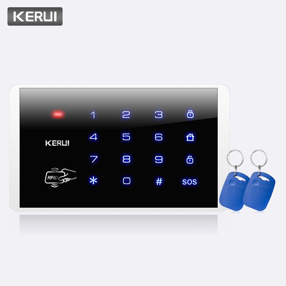 KERUI K16 RFID tactile sans fil mot de passe cambrioleur système de contrôle d'accès bras/désarmer clavier pour KERUI PSTN GSM WiFi systèmes d'alarme