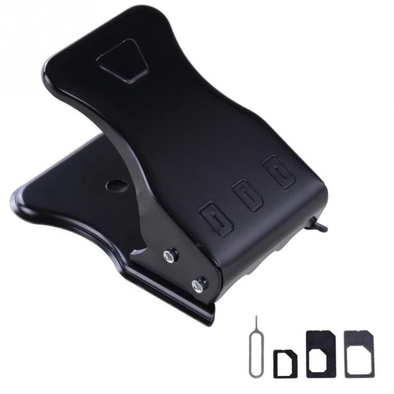 Hot de Haute Qualité Universelle 3 en 1 SIM/Micro/Nano SIM carte Cutter Pour iPhone 4 5 6 7 pour Samsung Smartphones