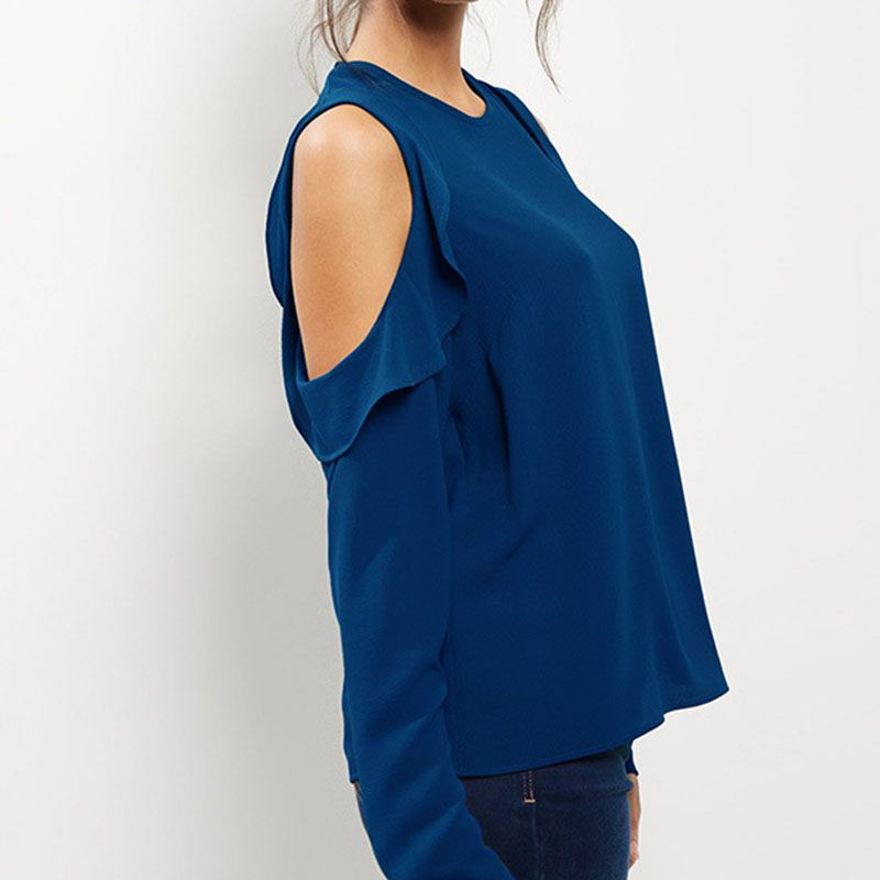 SEBOWEL 2018 Spring and Autumn Women's Chiffon Shirt Strapless Long-sleeved Shirt Blouse Women Plus Size 5xl 6xl Kimono Top