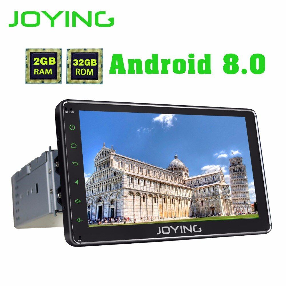JOYING latest 1 din android 8.0 car radio stereo 7 inch HD touch screen head unit GPS navi system with carplay and android auto