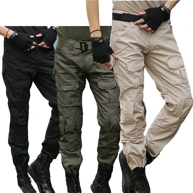 Taktische Hosen Camo Cargo Pants Männer Military SWAT Kampf Hosen männer Airsoft Paintball Dünne Beiläufige Camouflage Cargohose
