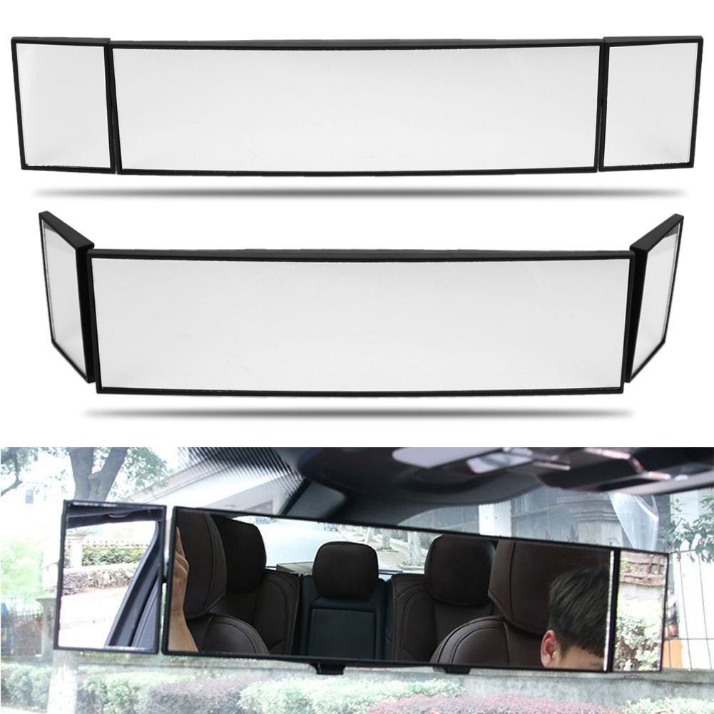 Large Vision Car Proof Mirror Wide Angle Car Rear View Mirror Adjustable Automobile Interior Curve Mirror car accessaries