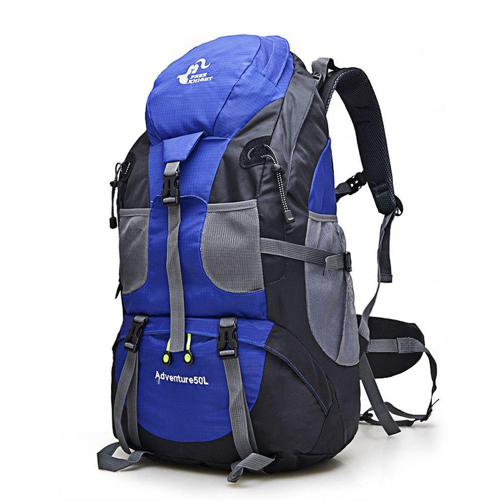 Hot Sale 50L Outdoor <font><b>Backpack</b></font> Camping Bag Waterproof Mountaineering Hiking <font><b>Backpacks</b></font> Molle Sport Bag Climbing Rucksack FK0396