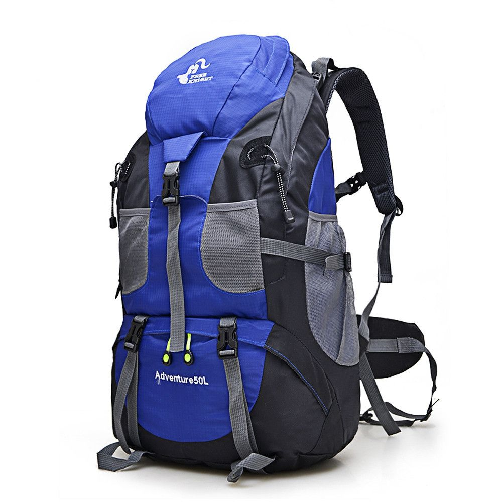 Hot Sale 50L <font><b>Outdoor</b></font> Backpack Camping Bag Waterproof Mountaineering Hiking Backpacks Molle Sport Bag Climbing Rucksack FK0396
