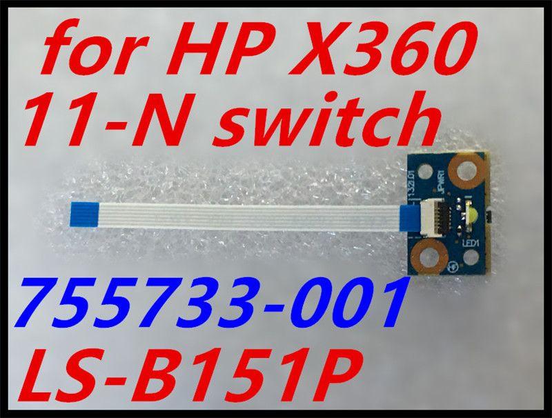 Véritable nouveau pour HP pavillon X360 11-N série 11-n011dx carte bouton d'alimentation avec câble 755733-001 LS-B151P