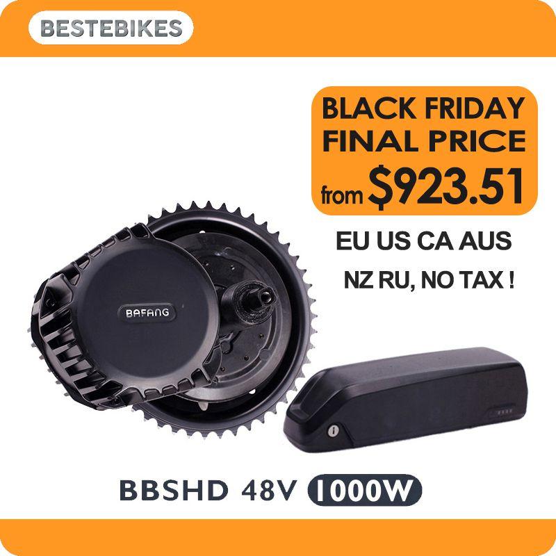 Bafang BBSHD 48V1000w electric motor kit bbs03 battery velo electrique bicicleta electrica 52V17.5ah EU/US NO Tax
