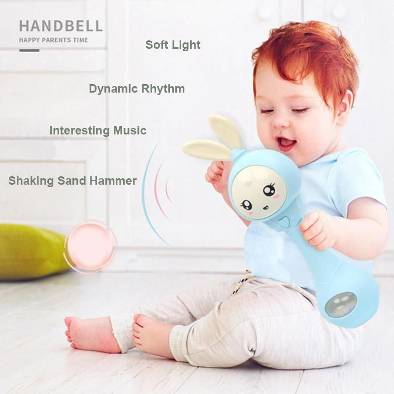 Lovely Baby Toys Hand Bells Baby Cute Music Rabbit Bell 0-12M Toddlers Cute Hand Rattles Ring Bell Early Educational Toys