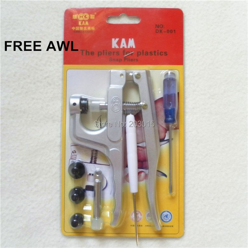 1PC Kam Plastic Snaps Fasteners Buttons Pliers Full Set DIY Snaps Tool Kit DK001 for T3 T5 T8 Snaps
