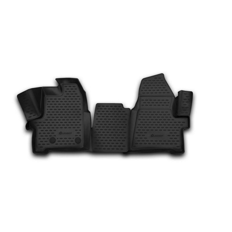 Auto Matten 3D salon Für FORD Tourneo Custom/Transit Nach, (1 + 2 sitze) 2013-2017, 2 PCs