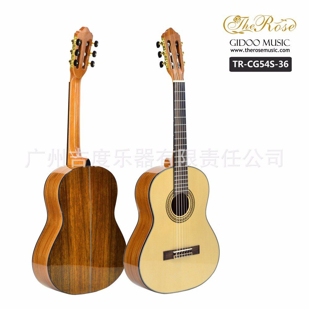 Flattop Classical Acoustic Guitar 36 39 Inch Flamengo Guitarra 6 String Red Pine Picea Walnut Red Light Body Standard Size