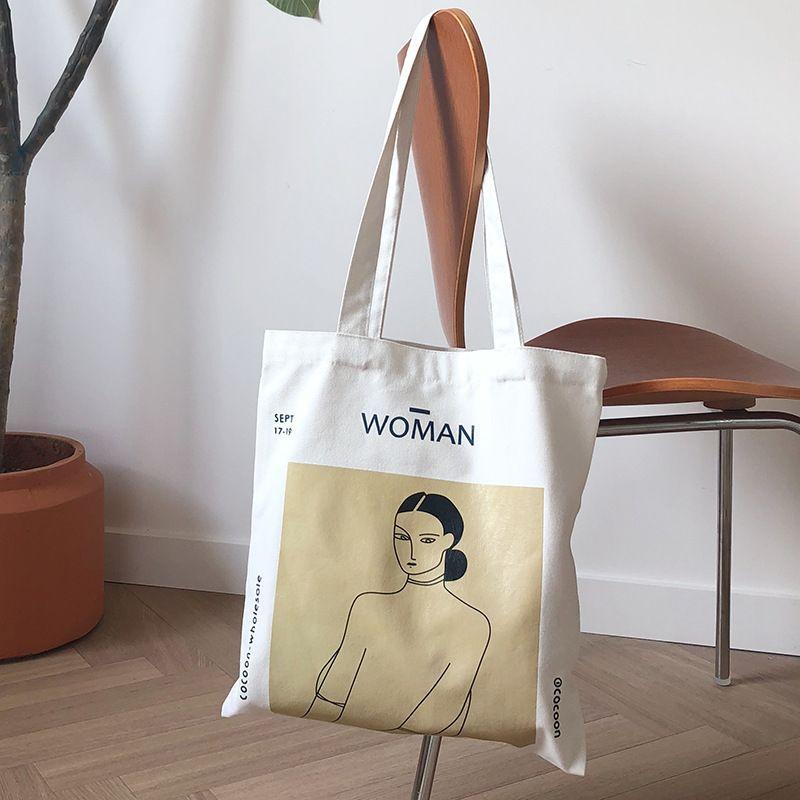 Youda coréen Simple femmes paquet élégant toile sac sacs à main japonais littéraire sacs à bandoulière décontracté Shopping fourre-tout filles sac à main